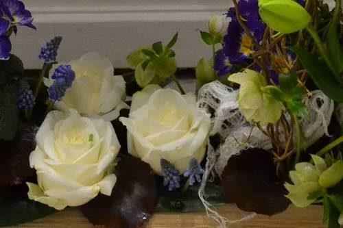 lys rose muscari