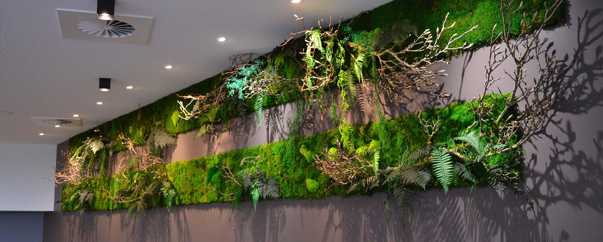 Murs végétaux en entreprise